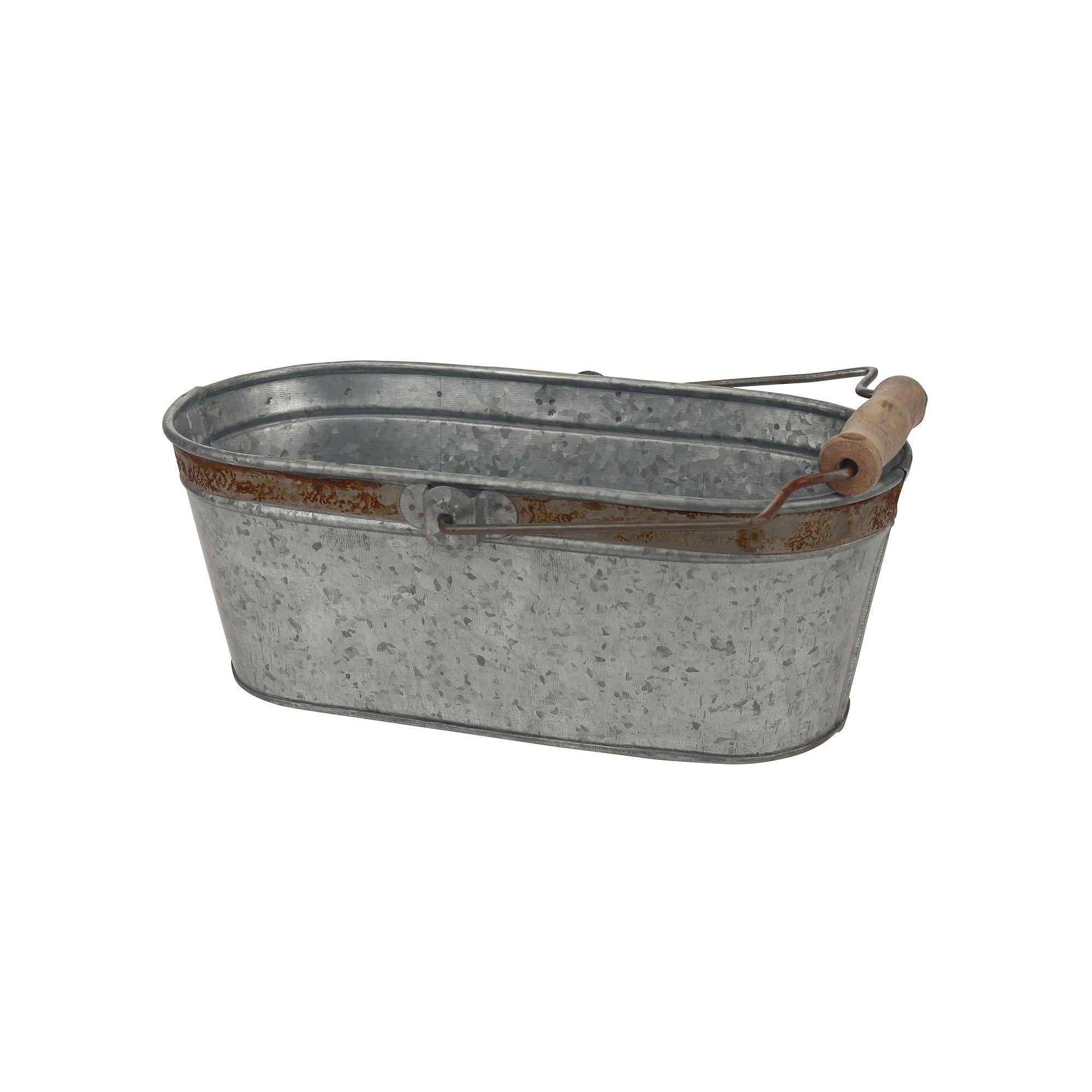 Galvanized Metal Oval Tub Beverage Tub Galvanized Tub Galvanized Buckets