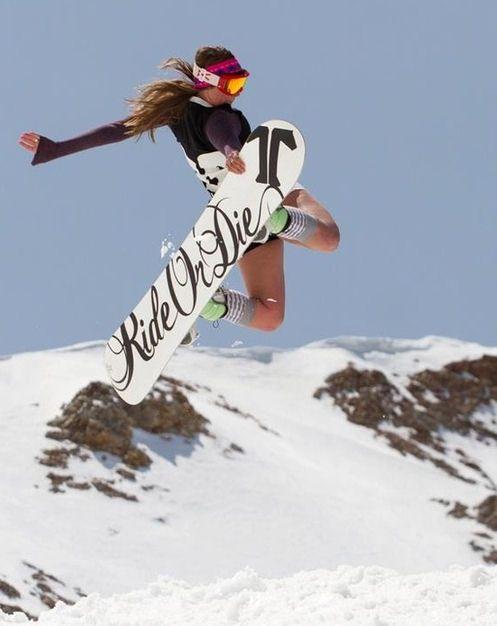 Born To Be Wild Snowboard Girl Snowboarding Snowboard