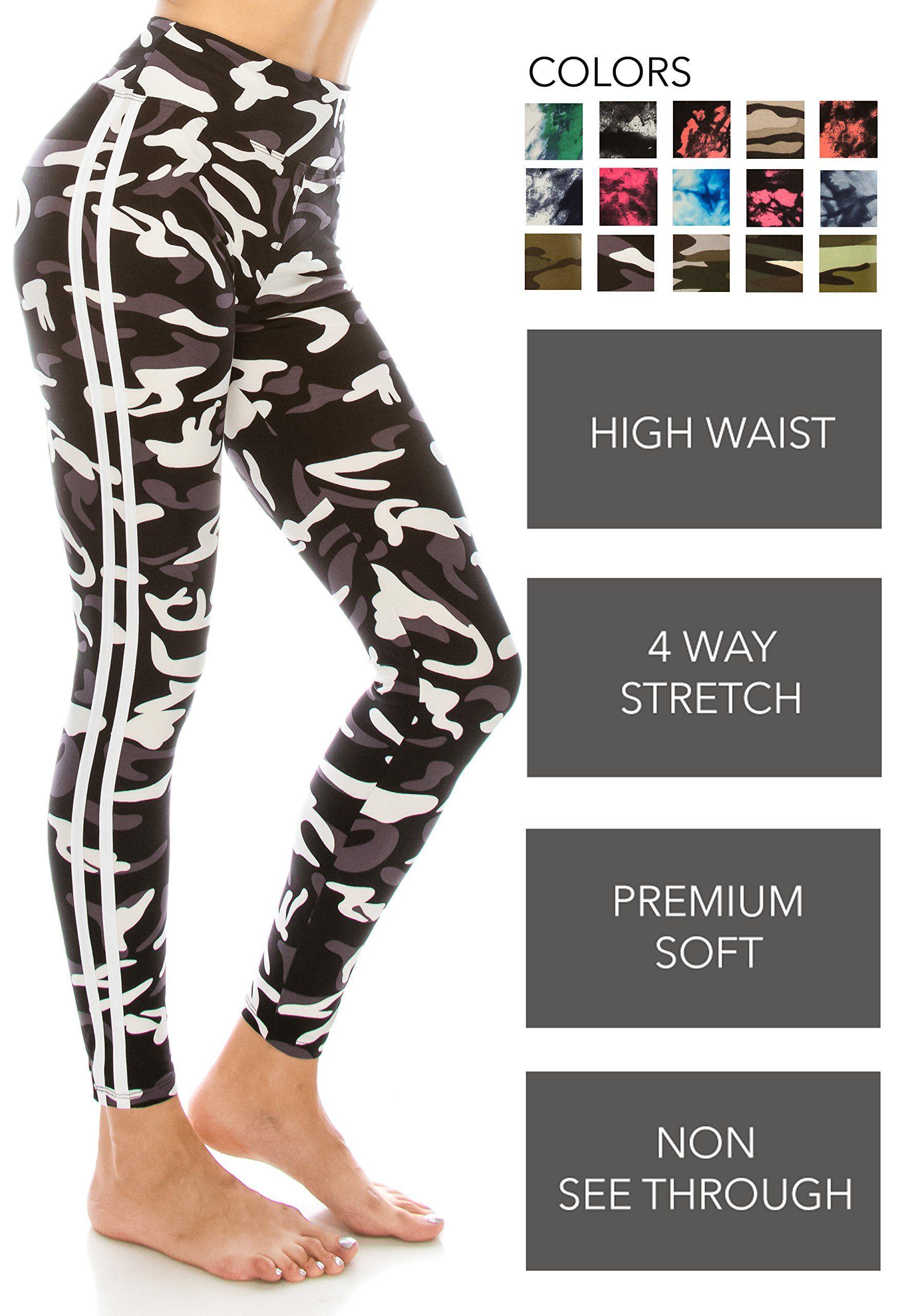 ffb02e9d32 ALWAYS Leggings Women Yoga Pants Camo Military Army Print Pattern ...