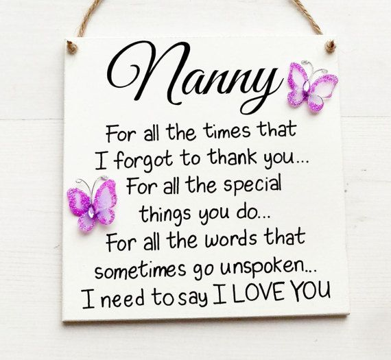 Nanny Gift Gifts For Sign Birthday Grandmother