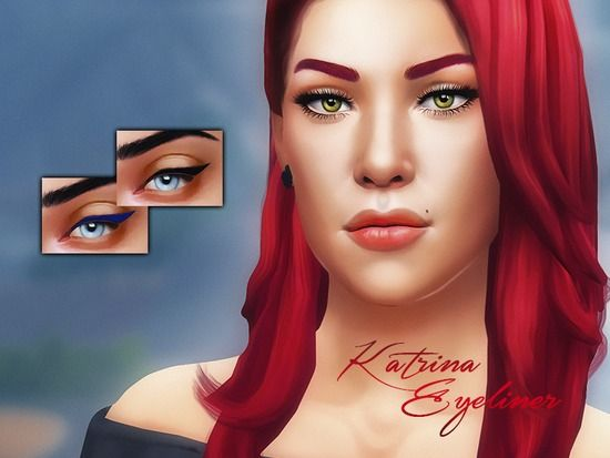 Very simple yet pretty eyeliner for your sim  Name of this