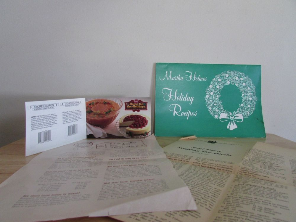Lot of Thanksgiving Christmas Holiday Recipes Holmes Borden