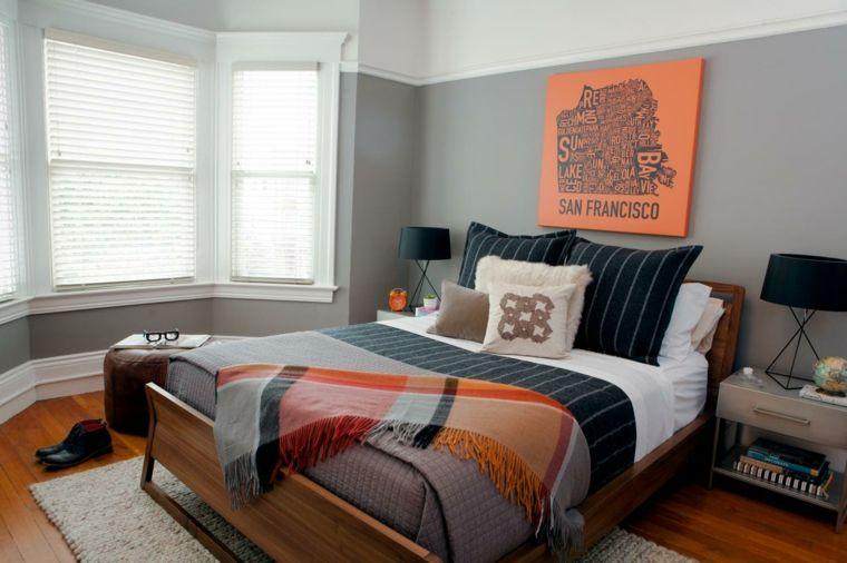 Dormitorio para hombre color naranja masculino for Dormitorio naranja