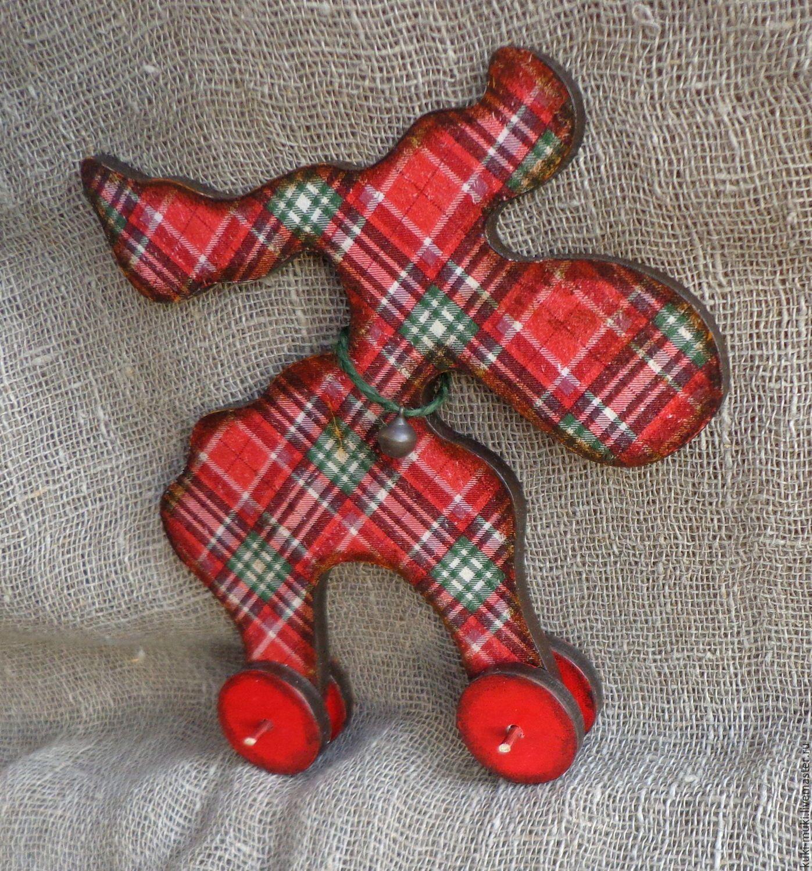 Купить Лось новогодний в клеточку - лось, игрушка лось, лось на новый год, новогодний лось