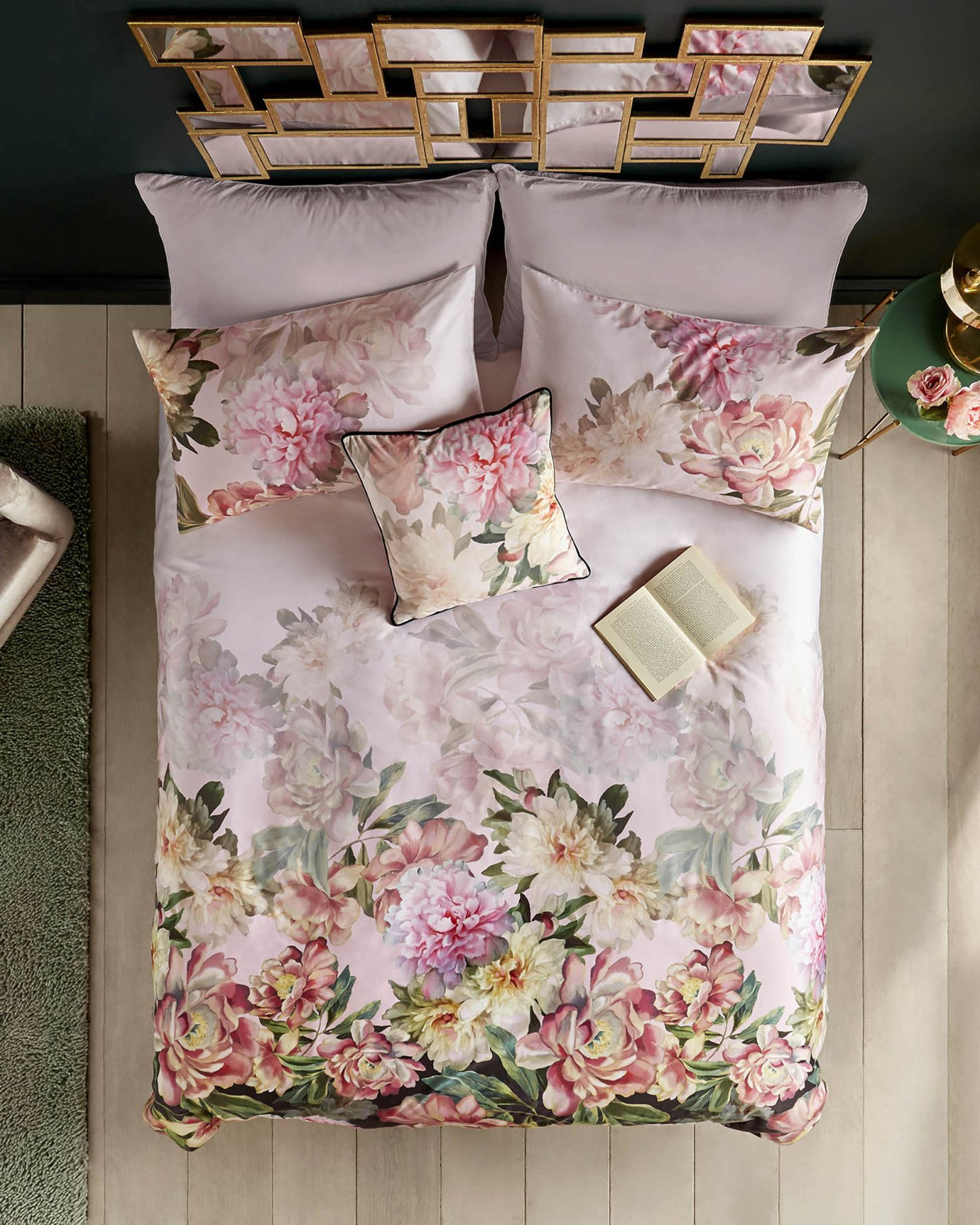 linara painted poise cotton super king duvet cover tedtotoe