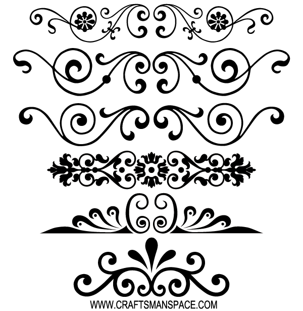 Free Decorative Ornaments Vector | vintage | Pinterest | Ornamentos ...