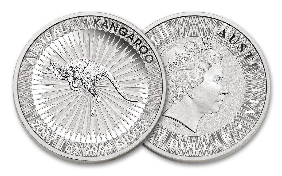 2017 Australian 1 Dollar 1 Oz Silver Kangaroo Bu Coin Coins Kangaroo Silver