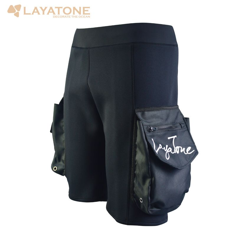 c88dc0c19fb Freeshipping Layatone Black 3mm Neoprene Shorts Snorkel Diving Surfing  Fishing Pants Diving Wetsuit Surf Suit Rash