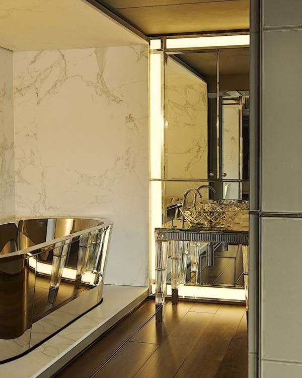Glam Bathroom Marble Mirror Brass  Rm  Bathrooms  Traditional Extraordinary Exclusive Bathrooms Designs Decorating Inspiration