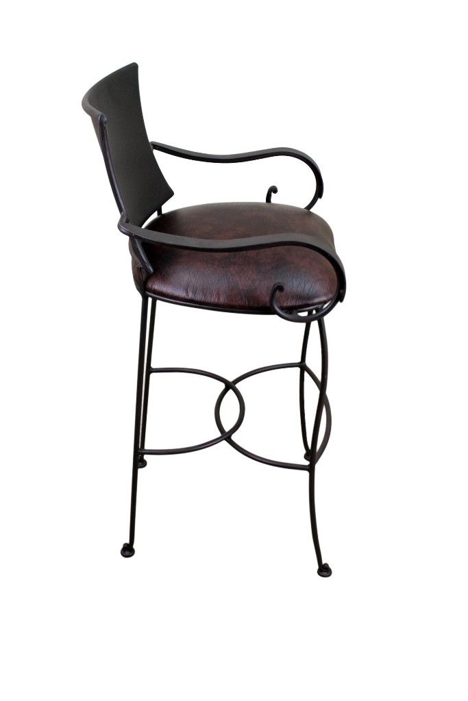 Interior Cute Pier 1 Wicker And Wrought Iron Bar Stools From