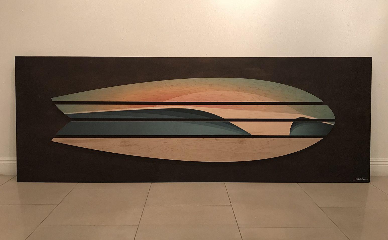 Surfboard Surfboard Art Surf Room Decor Wood Wall Sculpture