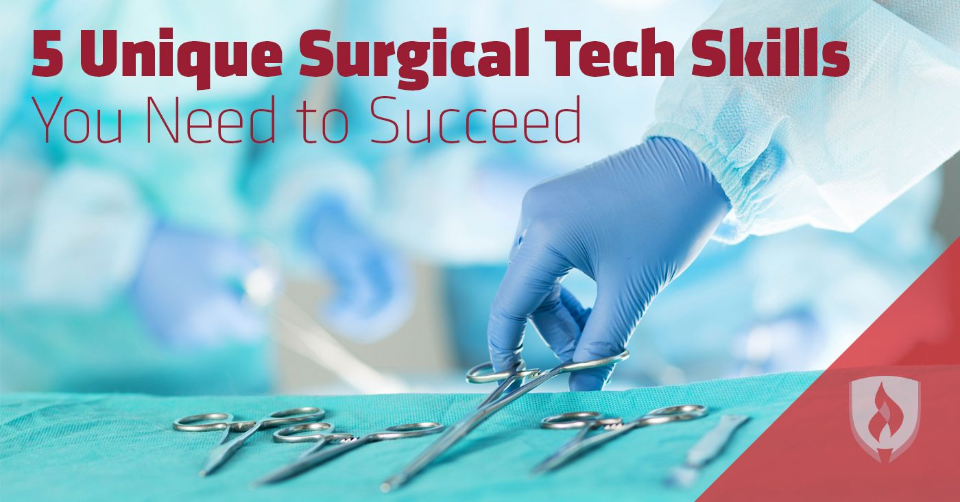 SurgicalTechs play a very unique, handson role in the