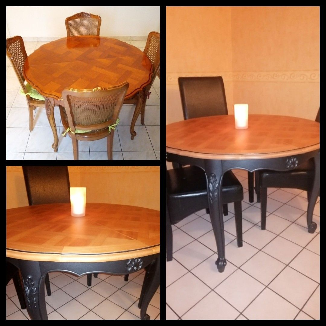 Table Salle A Manger Relookee Table Salle A Manger Deco Interieure Table