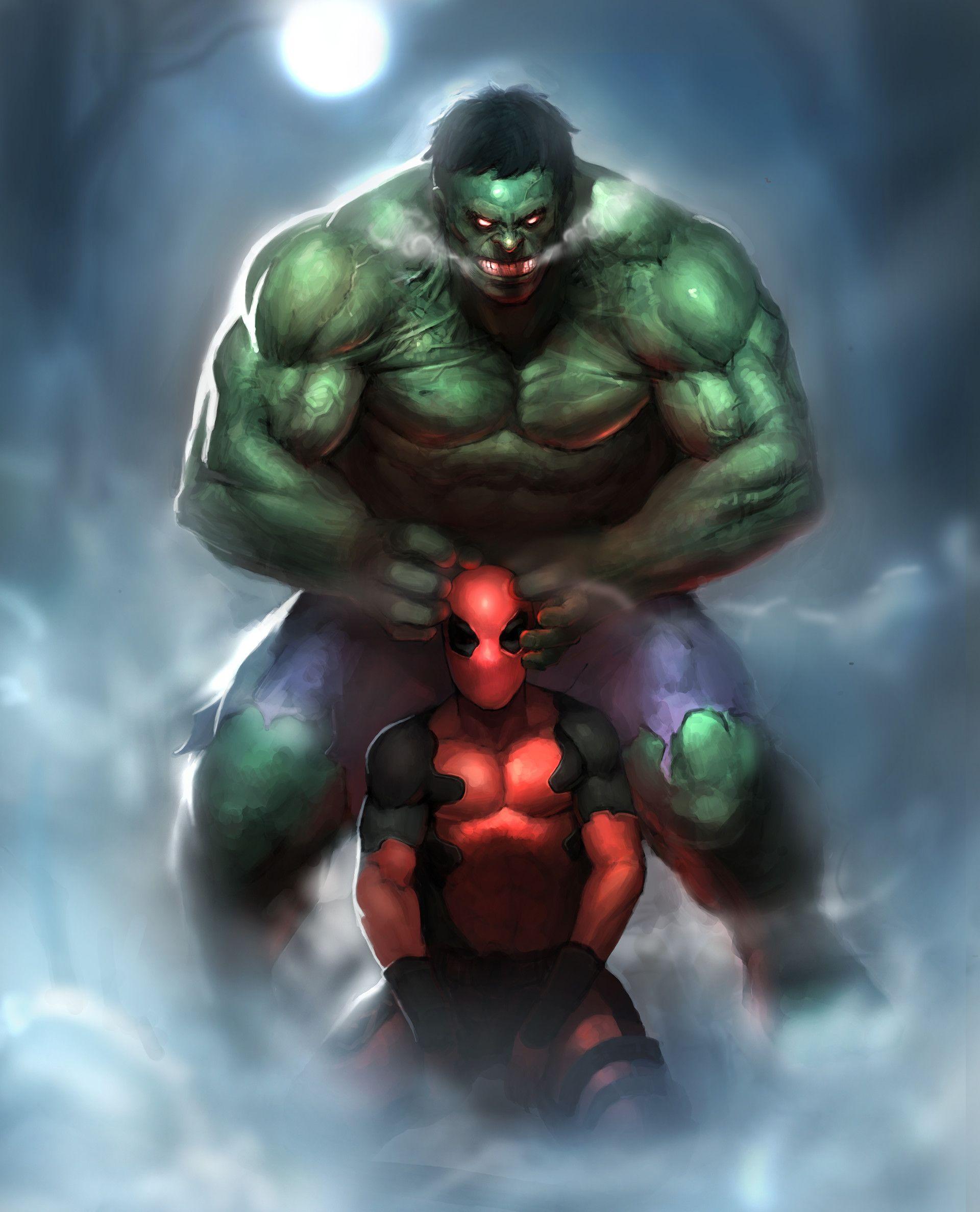 #Hulk #Fan #Art. (Hulk and Deadpool) By: Jeon Wan woong. (THE * 3 * STÅR * ÅWARD OF: AW YEAH, IT'S MAJOR ÅWESOMENESS!!!™)[THANK Ü 4 PINNING!!!<·><]<©>ÅÅÅ+(OB4E)