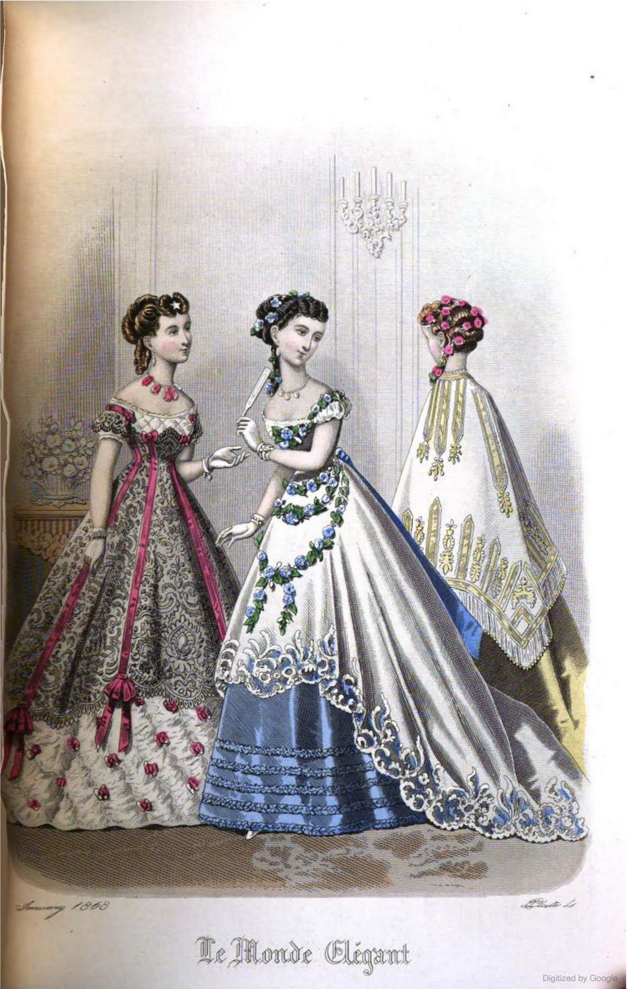 Dresses during the Crinoline period were usually two pieces ...