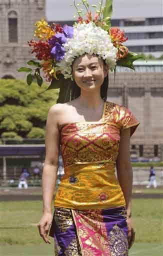 Beautiful Rei Kikukawa In Beutiful Balinese Traditional Dress