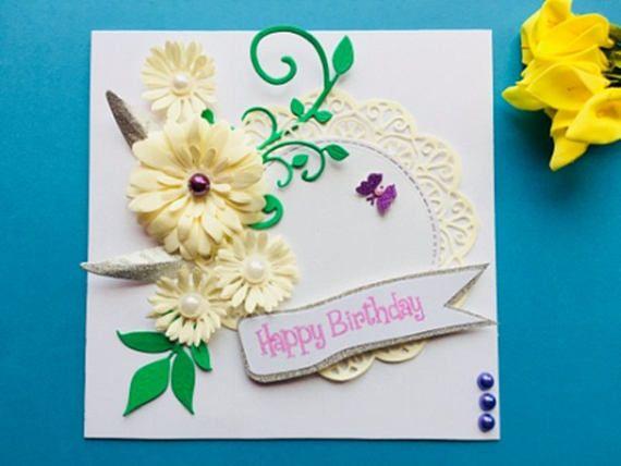 Handmade Personalised Birthday Card Luxury Mum Wife