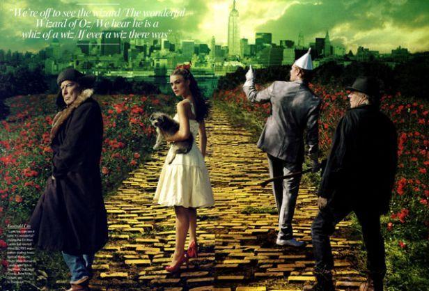 Annie Leibovitz for Vogue Magazine Dec '05  Keira Knightley/Wizard of Oz