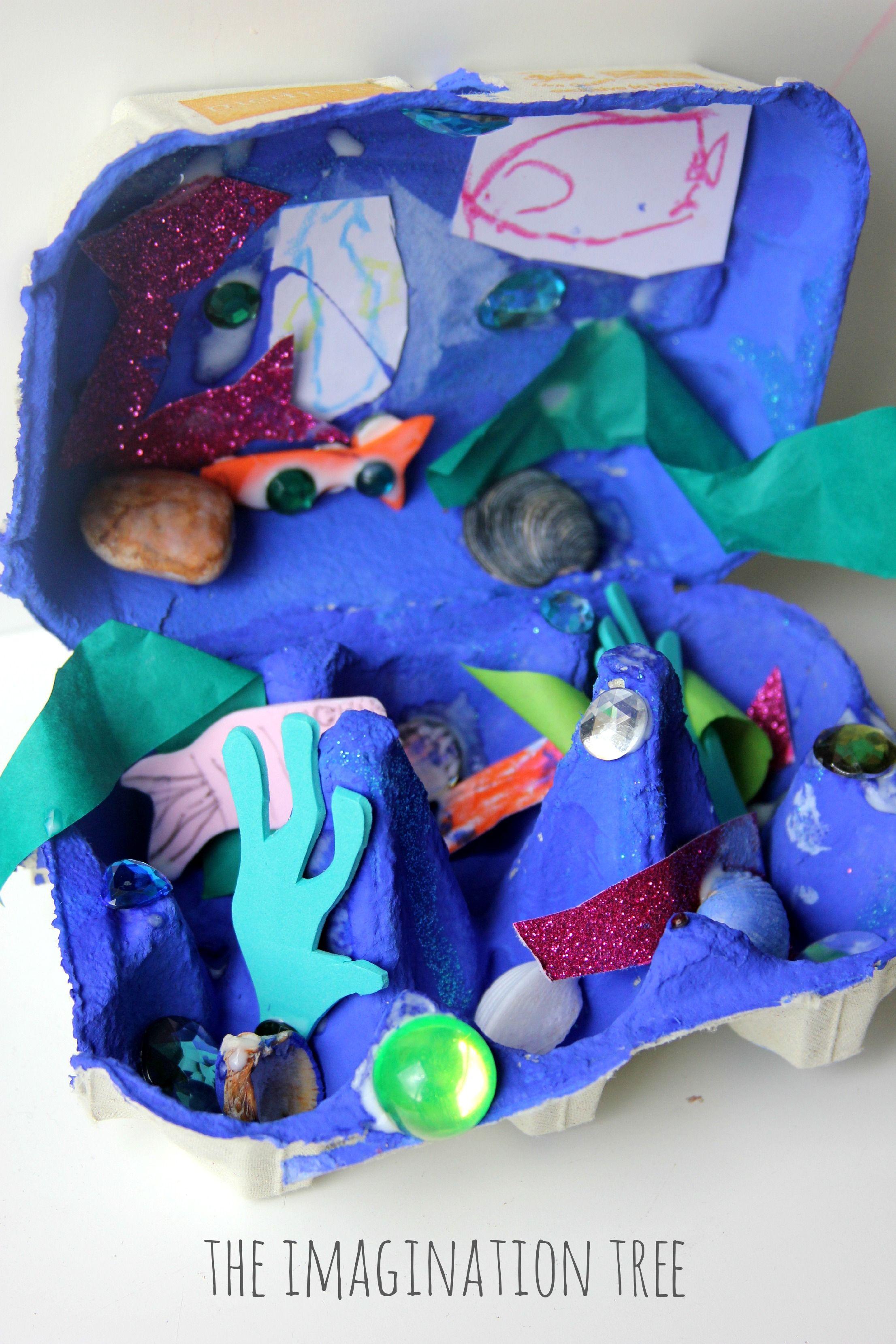 Egg Carton Ocean Craft Dioramas Pinterest Egg Carton Crafts