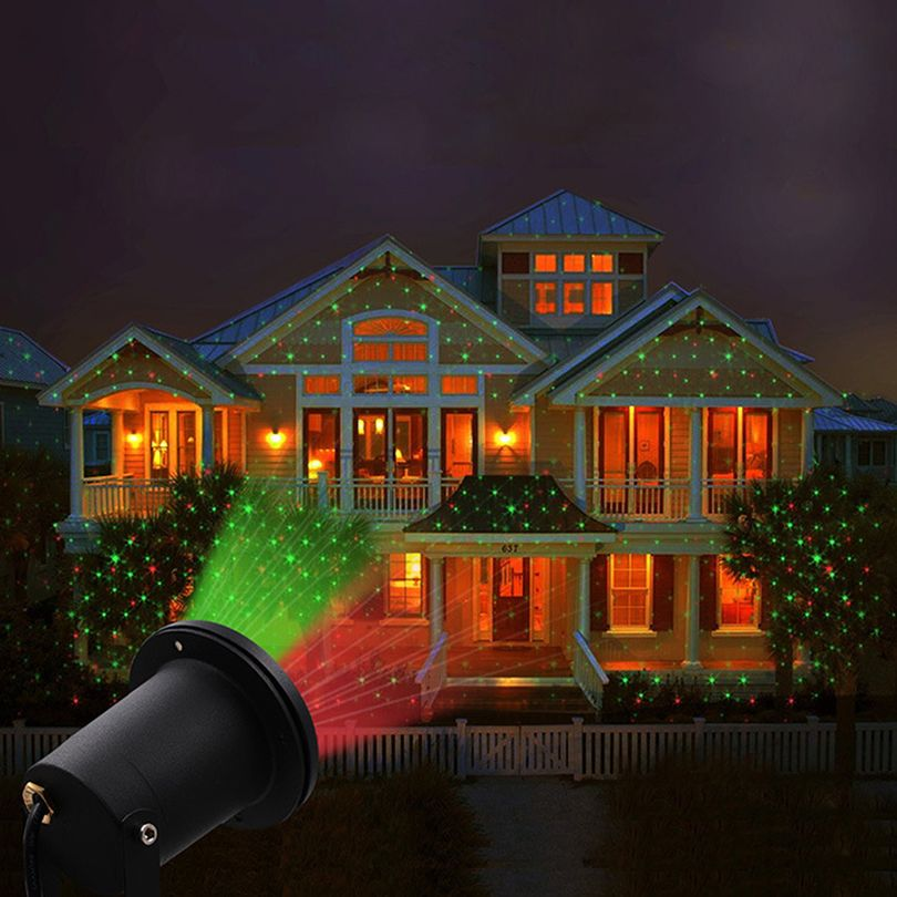 Holiday Decoration Waterproof Outdoor Led Stage Lights Sky Star Laser Projector Lamp Christmas Home Garden Landsca Christmas Garden Led Stage Lights Star Laser
