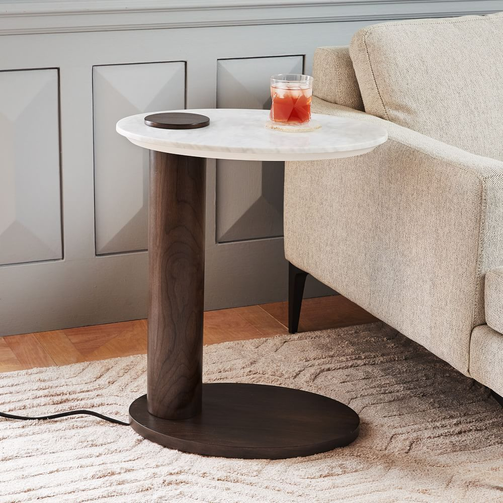 Alva Charging C Side Table Side Table Mirrored Side Tables Table