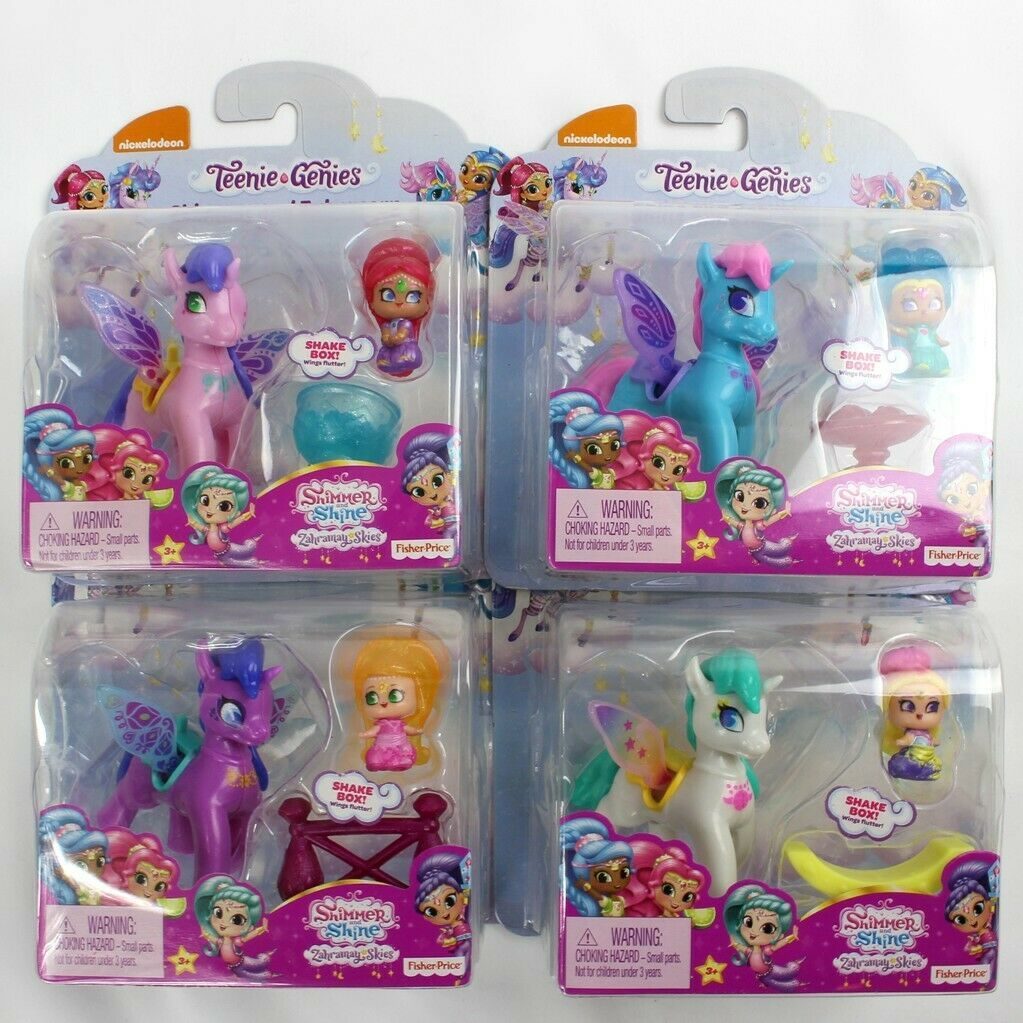 Leah /& Zahracorn Shimmer and Shine Teenie Genies ~ Rainbow Shimmer Lot of 3
