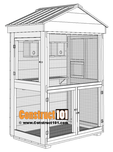 Outdoor Aviary Bird Cage Plans | Free PDF Download ...