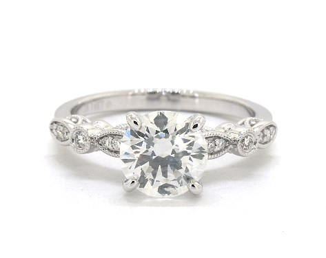2.10 Carat Amazing Round Shape 14KT White Gold Solitaire Engagement Ring