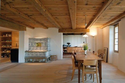 Umbau Bauernhof Schweiz Rustikales haus, Wohnen, Haus