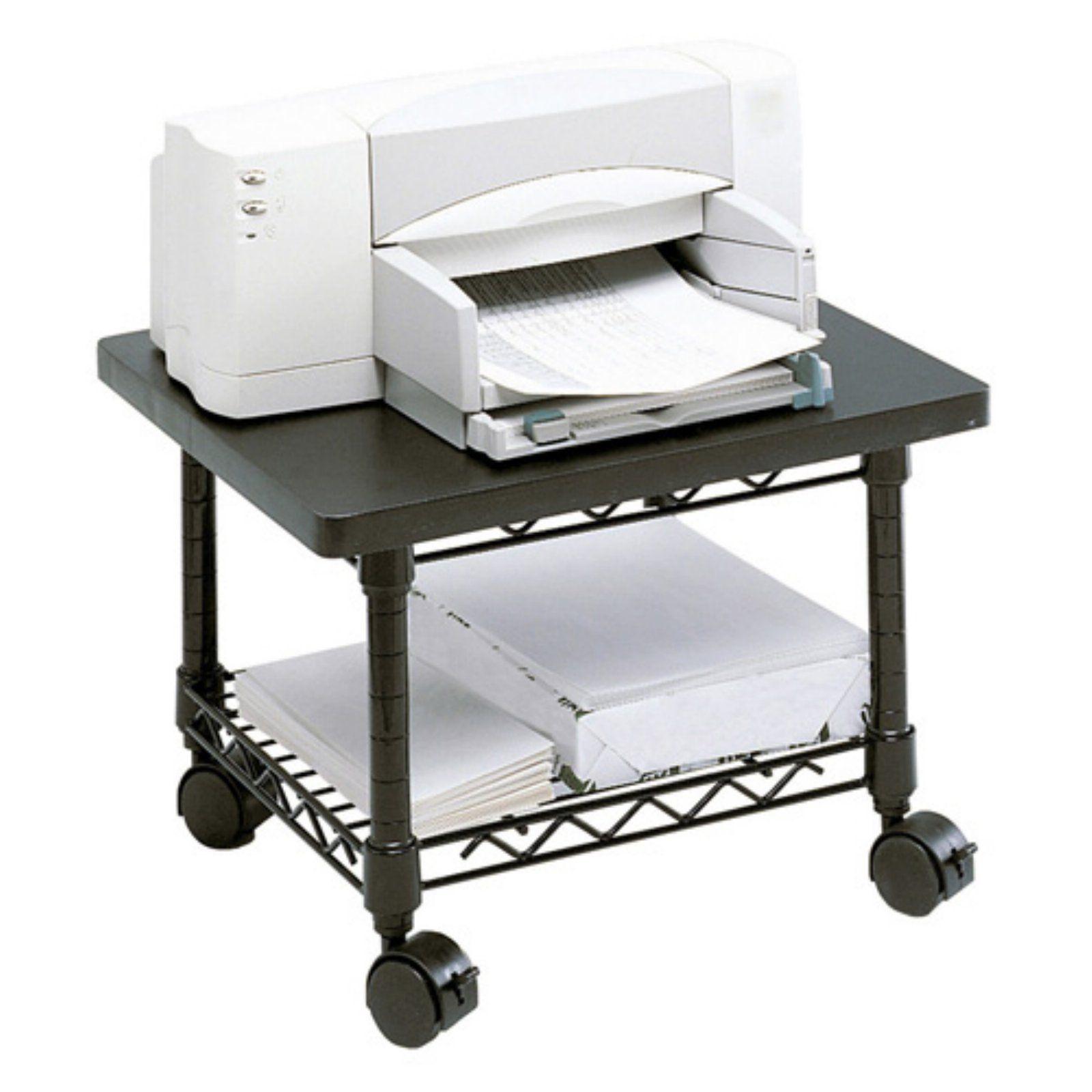 Safco 5206bl Under Desk Printer Fax Stand Black Printer Stand Desk Office Furniture