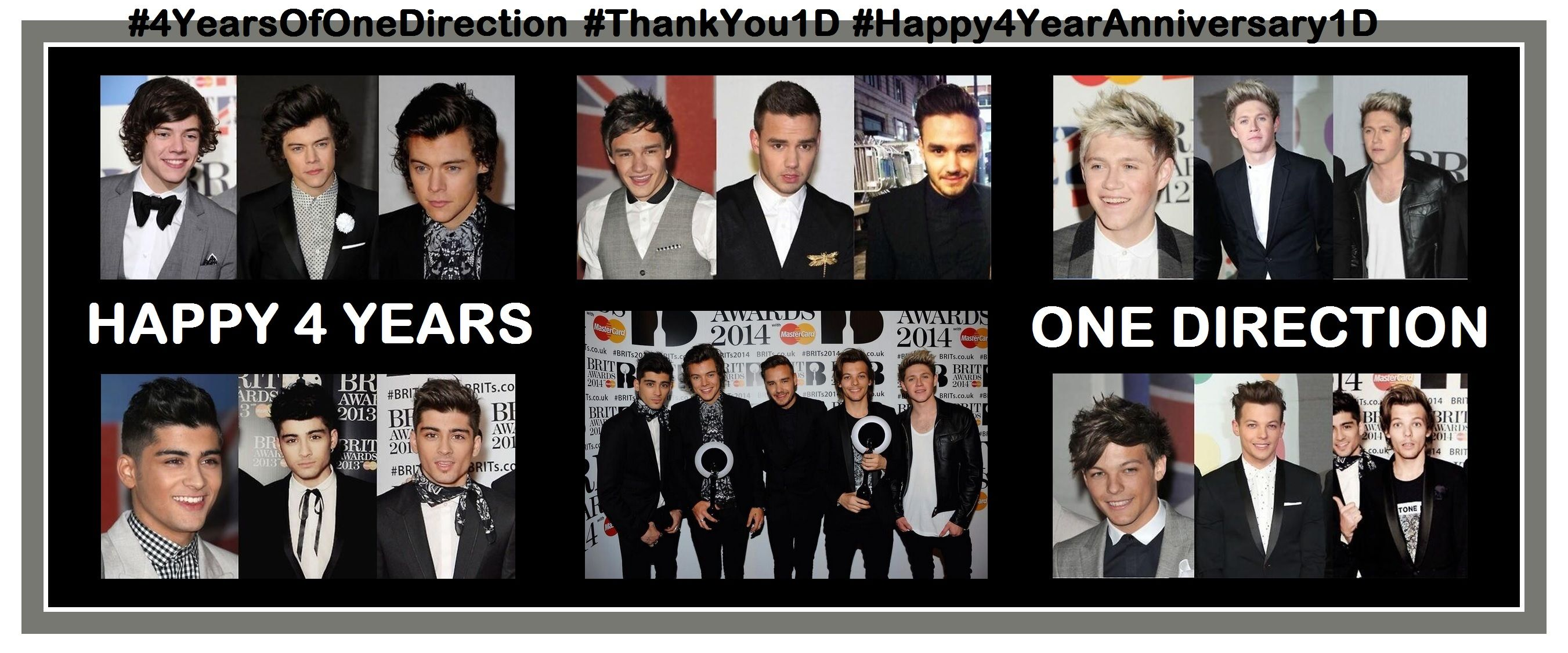 Happy 4 Years One Direction! (July 23rd, 2014)