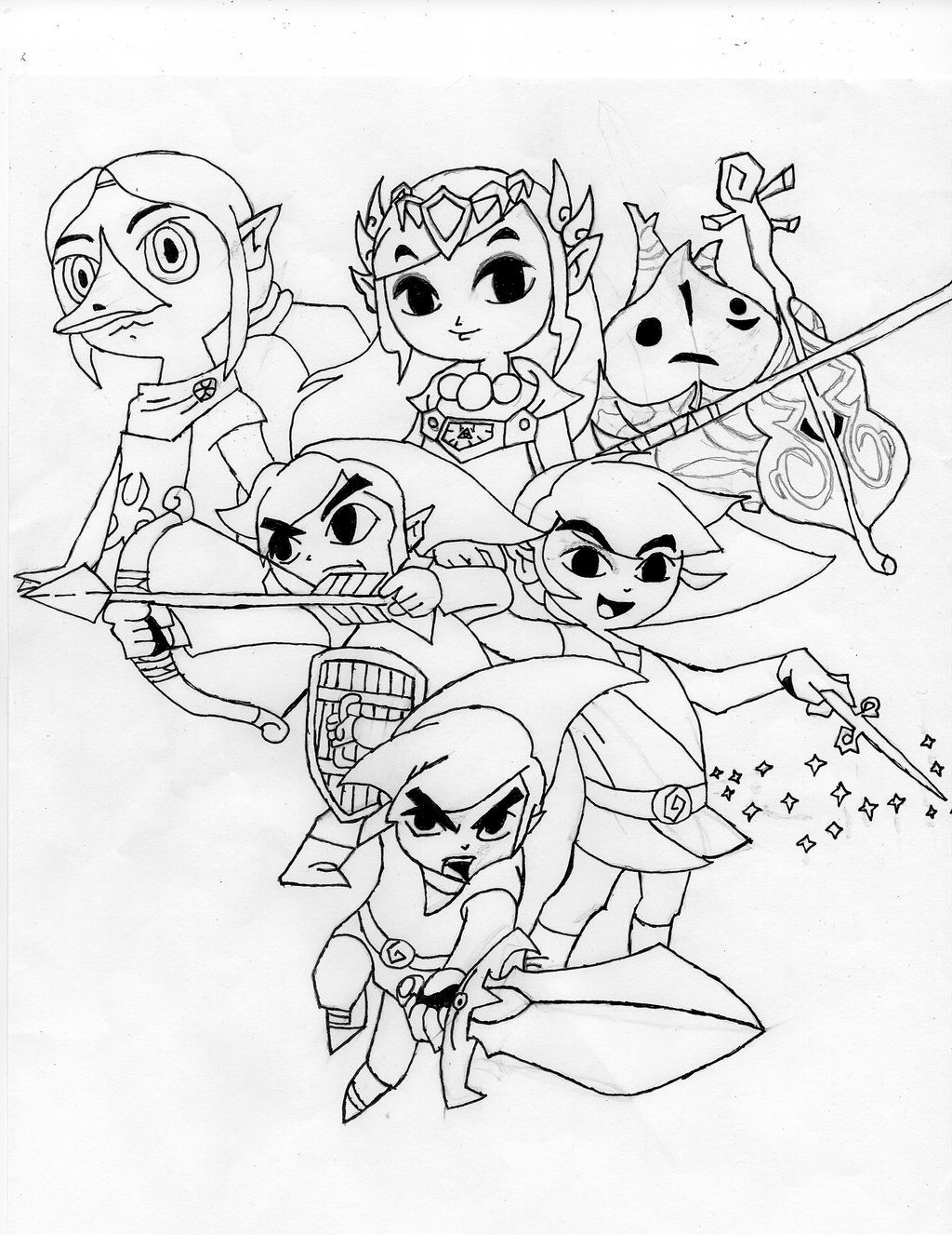 zelda link sailing Google Search Coloring pages