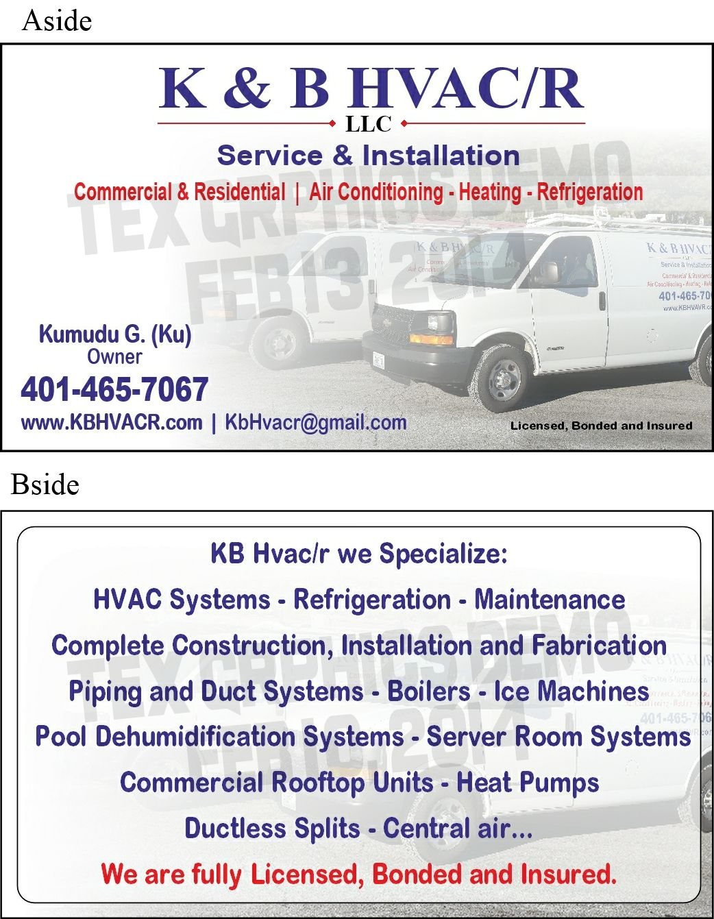 K B Hvacr Residential Air Conditioning Heating And Air