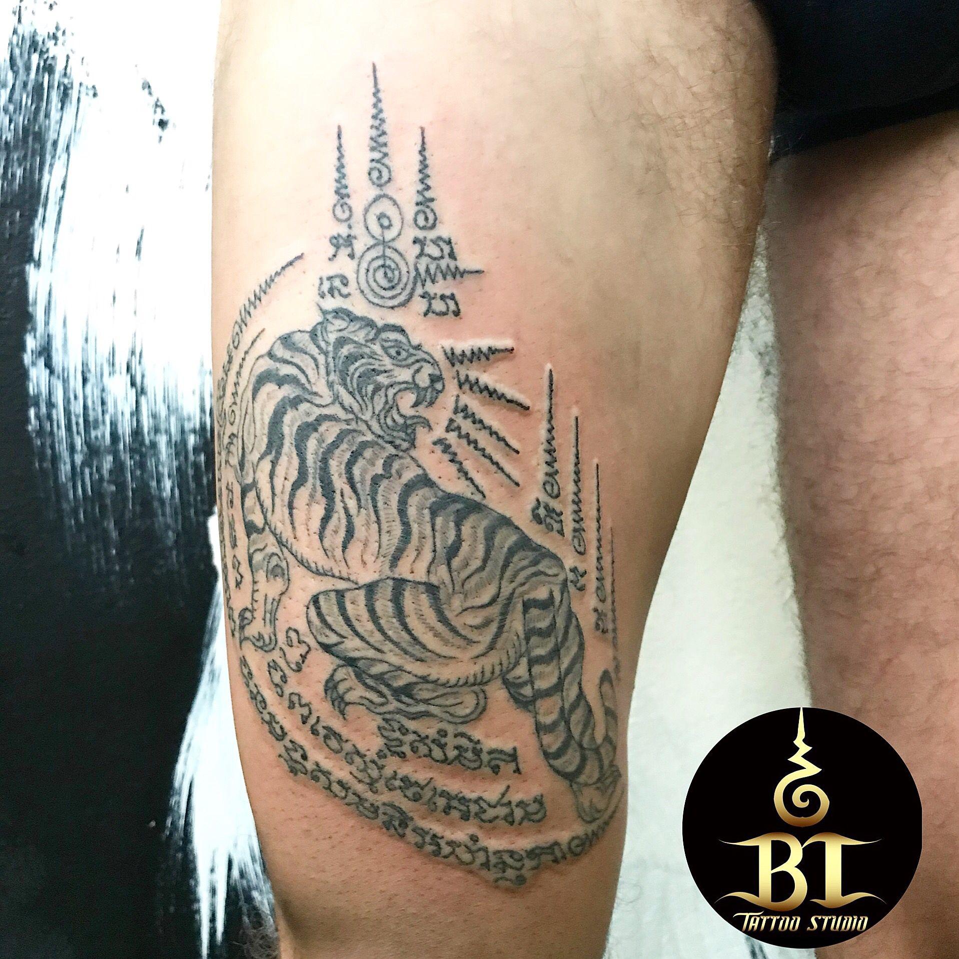 Done Traditional Thai Sak Yant Tattoo By Ajarn Tawwwbt