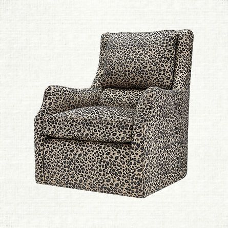 Swivel Chair And A Half Womb Replica Alex Upholstered In Ephesus Pewter Arhaus Furniture