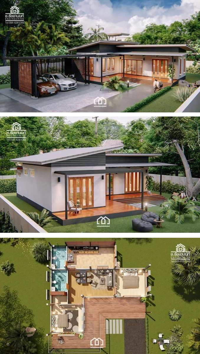 Pin By Oscar Antonio On Cecie S Dream Homes Modern Bungalow House House Designs Exterior Simple House Design