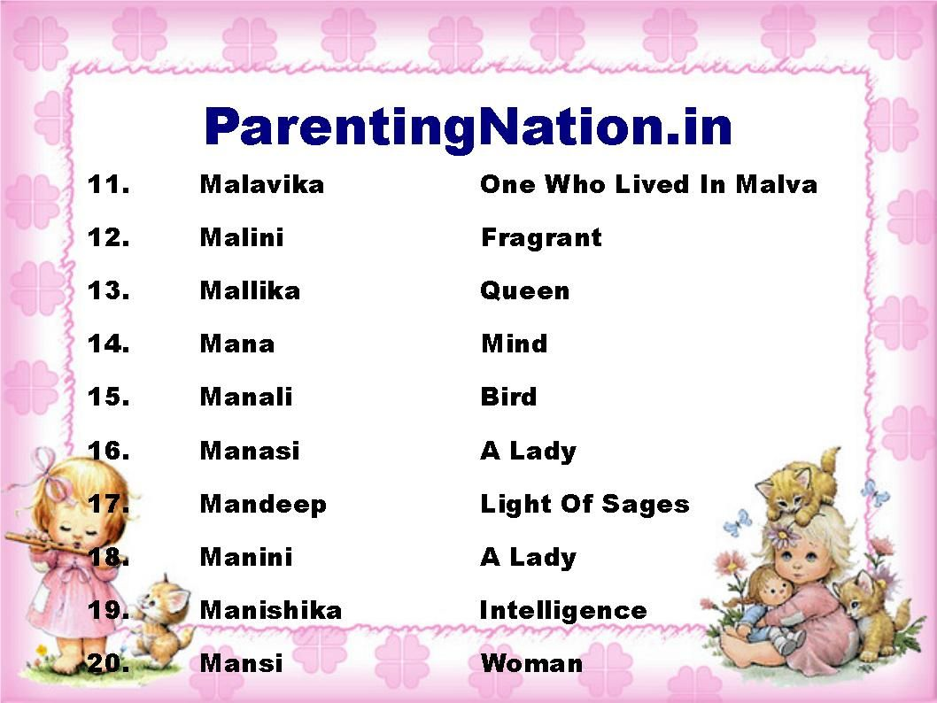 List Contain Sinh Rashi Baby Girl Name With Meanings. Pin ...