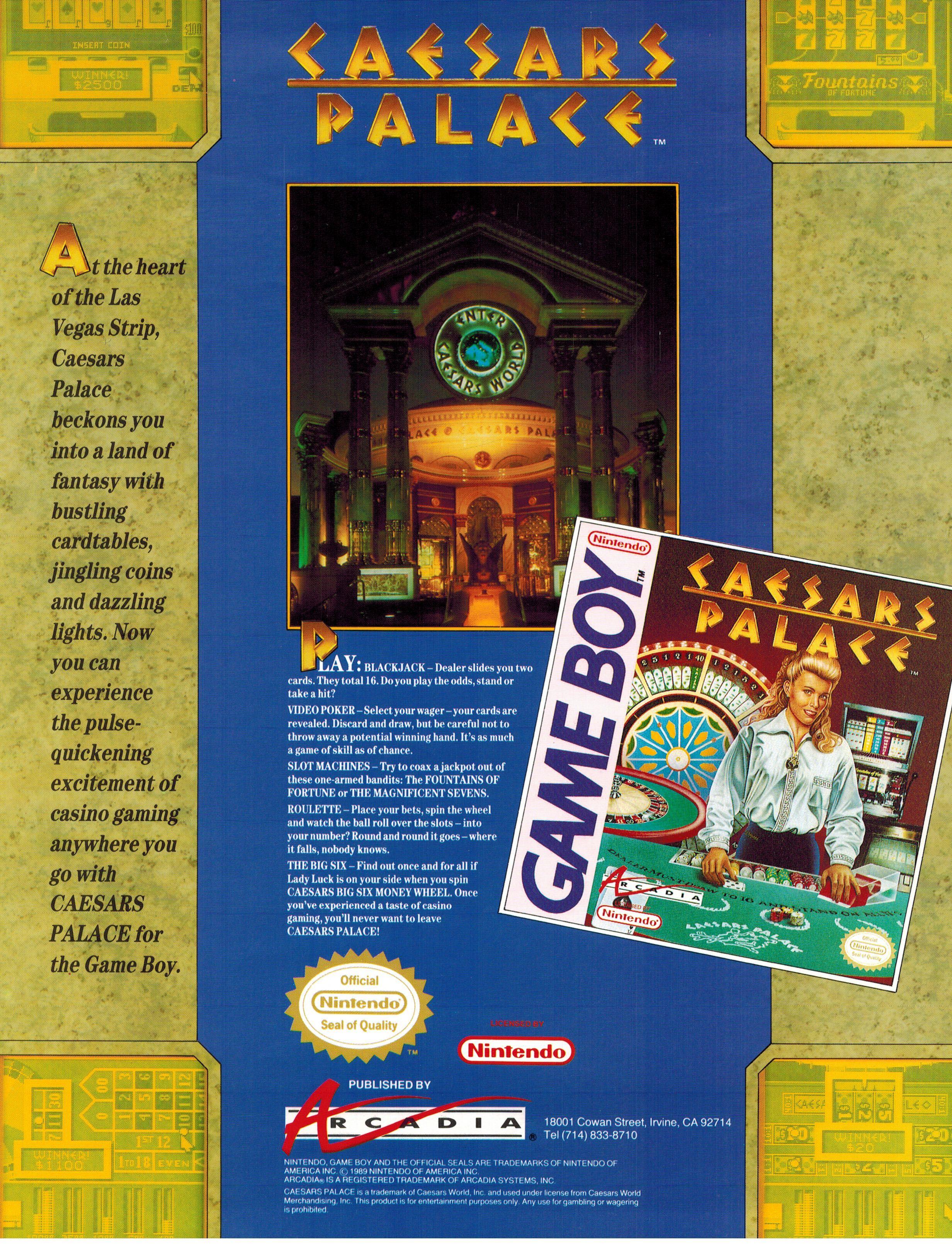 Caesars Palace Casino Game