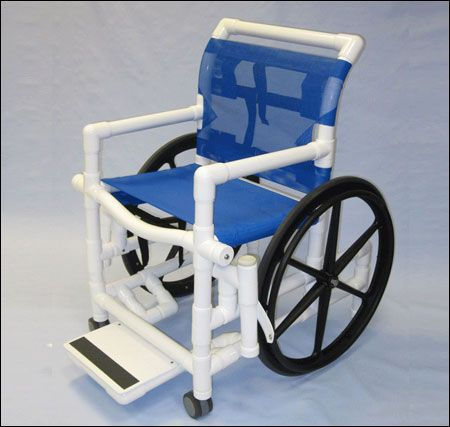 PVC Pool Access Chair with mesh seat