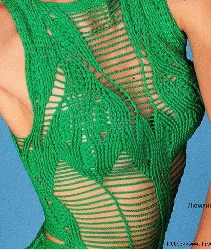crochet dress by Helen Rodel