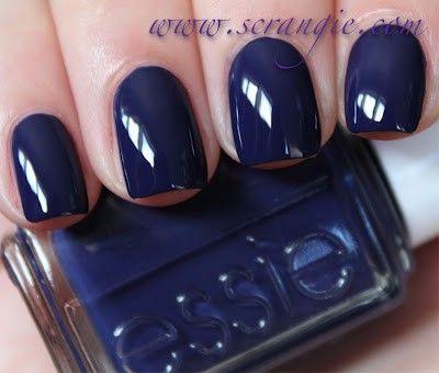 Perfect For Fall Nails Nailpolish Essie Blue Nails Dark Blue Nails Nails