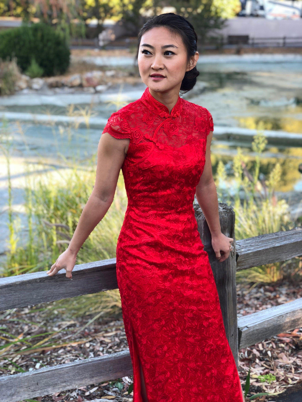 Moderne Spitze Cheongsam Chinesische Hochzeitskleid  Etsy