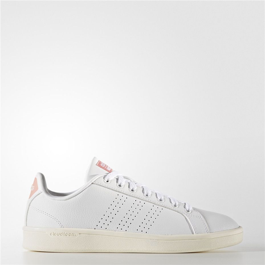 newest c1ad1 acbe4 Adidas Cloudfoam Advantage Clean Shoes (Running White Ftw   Running White)