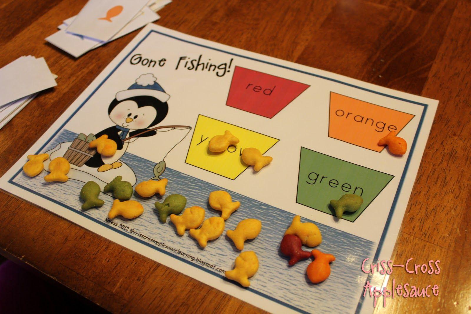 Criss Cross Applesauce Penguin Fishing Game Freebie