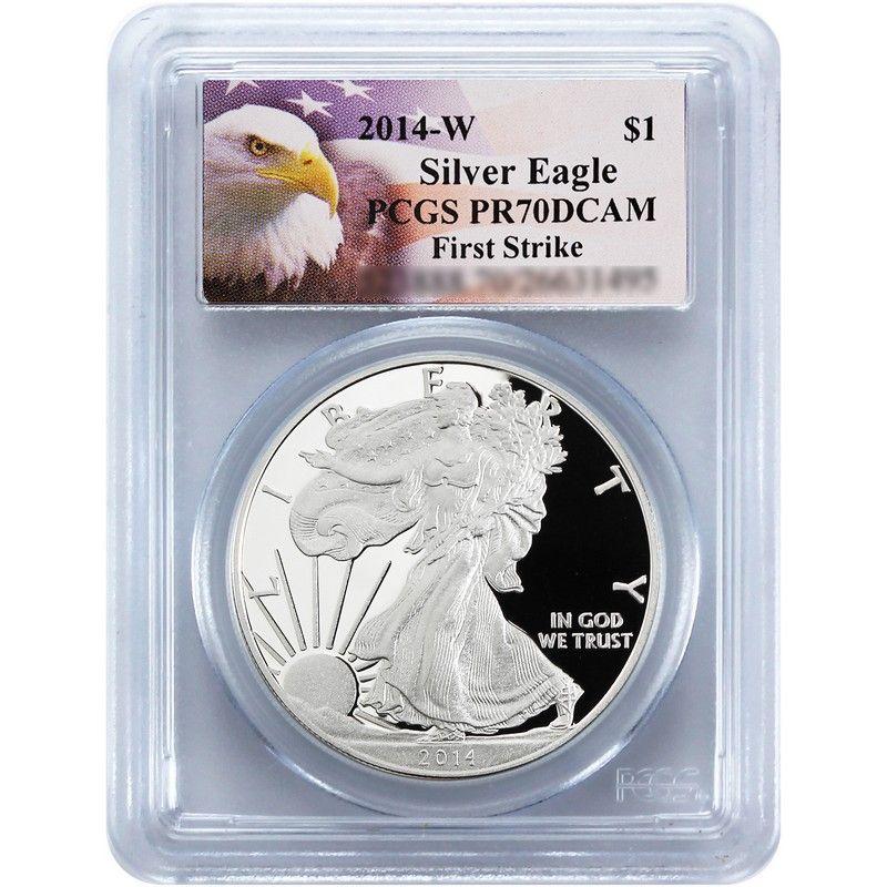 Pre Order 2014-W Silver American Eagle PR70 DCAM FS PCGS Eagle Label
