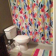 Kate Spade Paintball Floral Shower Curtain Floral Bathroom