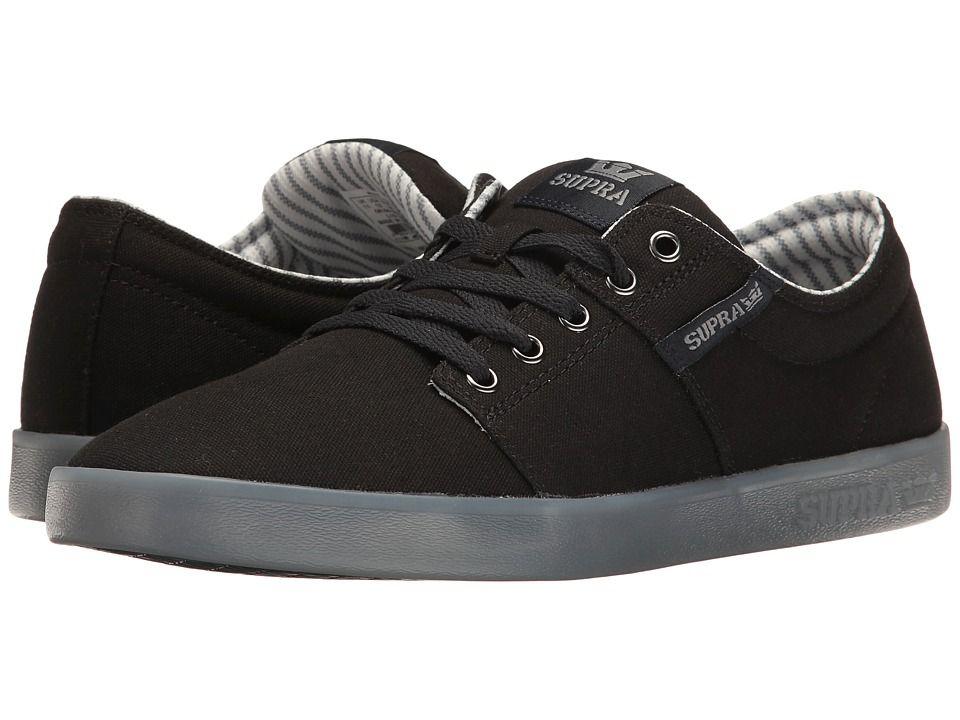 Supra Mens Stacks II Black Ice Skate Shoes ZT4tz3P