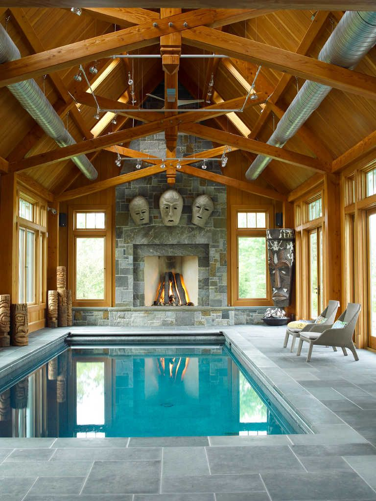 Timber frame pool enclosure barn builder maine horse for Mansion plans with indoor pool