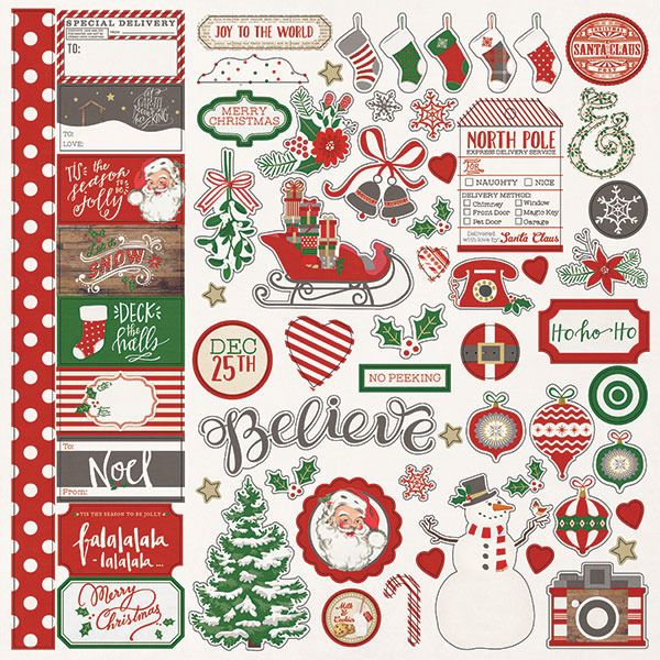 Christmas VHTF 12 SHEETS PSX Holiday Delight Stickers LOT