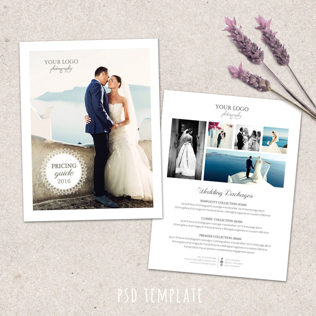 Wedding Photography Price List Template Marketing Advertising Pricing Guide For Photographers Fully Editable Photo Files By